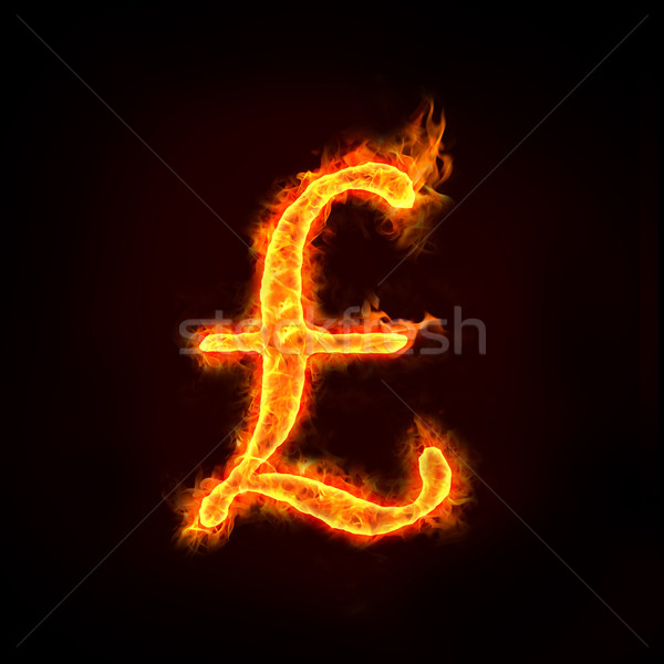 Stock photo: pounds sign