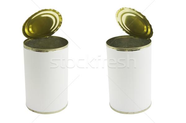 Kalay can iki marka yalıtılmış Stok fotoğraf © mtkang