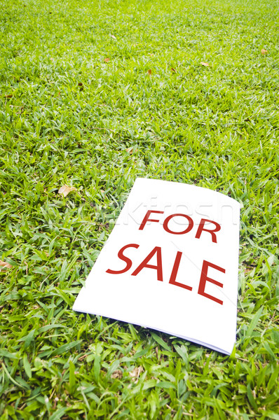 For sale sign Stock photo © mtkang