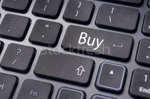 Satın almak kavramlar online alışveriş borsa mesaj klavye Stok fotoğraf © mtkang