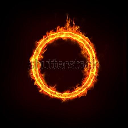 Yangın halka kavramlar atlama iş atlamak Stok fotoğraf © mtkang
