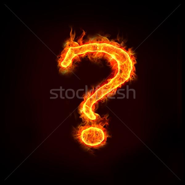 Sorular soru işareti alev iş yangın Stok fotoğraf © mtkang