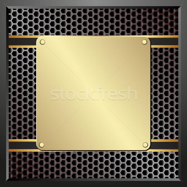Fogkő arany fekete mintázott panel textúra Stock fotó © mtmmarek