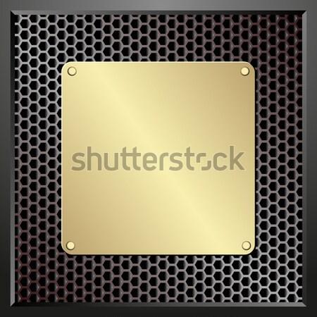 Fogkő arany sötét mintázott textúra technológia Stock fotó © mtmmarek