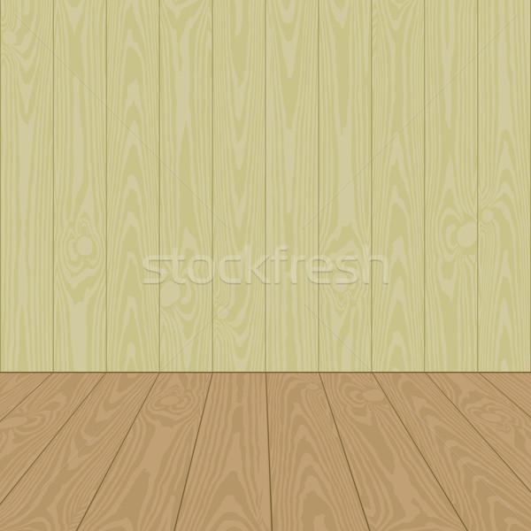 Duvar ahşap zemin boş vektör Stok fotoğraf © mtmmarek