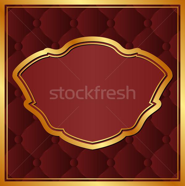 Gesztenyebarna arany keret textúra űr sötét Stock fotó © mtmmarek