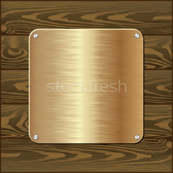 Fogkő arany sötét fából készült fal textúra Stock fotó © mtmmarek