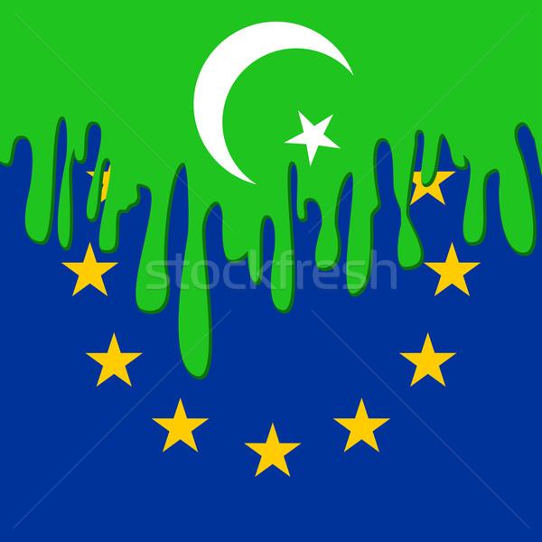 Europie symbolika islam europejski Unii podpisania Zdjęcia stock © mtmmarek