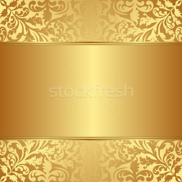 Złota kwiatowy ozdoby streszczenie projektu przestrzeni Zdjęcia stock © mtmmarek