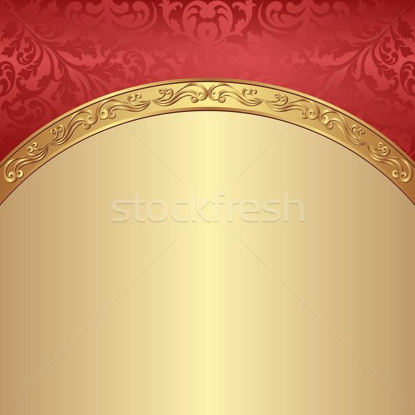 Antik díszek háttér klasszikus minta poszter Stock fotó © mtmmarek