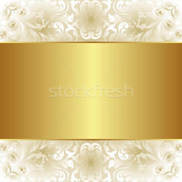 Cremoso ouro floral abstrato projeto Foto stock © mtmmarek