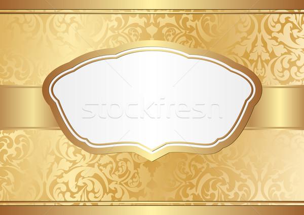 Złoty ozdoby tekstury metal ramki przestrzeni Zdjęcia stock © mtmmarek
