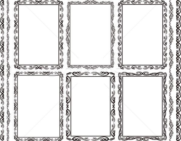 Ramki prostokątny zestaw tekstury streszczenie Zdjęcia stock © mtmmarek