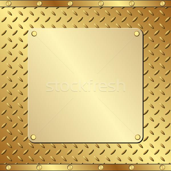 Fogkő arany mintázott technológia háttér tányér Stock fotó © mtmmarek