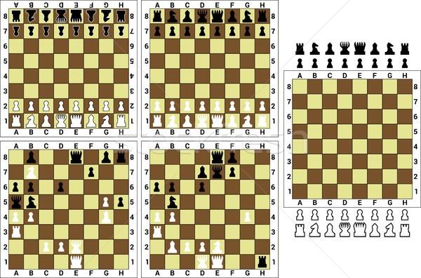 Szachy szachownica biały pokładzie rycerz Zdjęcia stock © mtmmarek