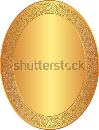 Arany ovális díszek keret űr kártya Stock fotó © mtmmarek