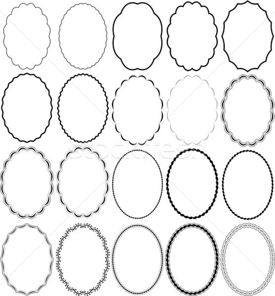 frames oval Stock photo © mtmmarek
