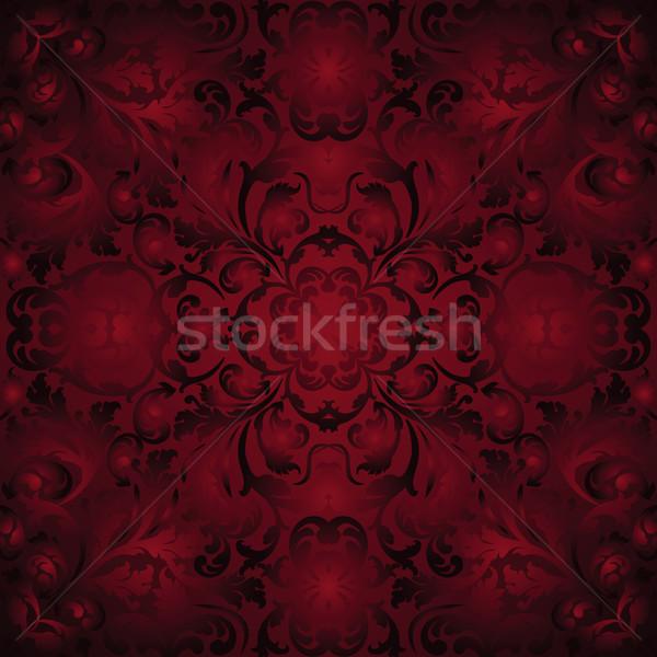 Gesztenyebarna díszek textúra terv művészet piros Stock fotó © mtmmarek