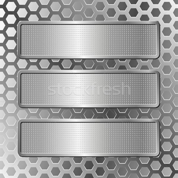 three plaques Stock photo © mtmmarek
