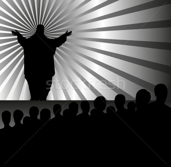 質量 司祭 群衆 イエス 教会 学習 ストックフォト © mtmmarek