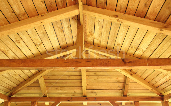 çatı yapı iç görmek ahşap inşaat Stok fotoğraf © mtmmarek