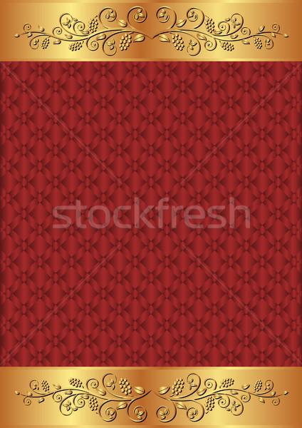 Hochrot Gold floral Ornamente abstrakten Raum Stock foto © mtmmarek