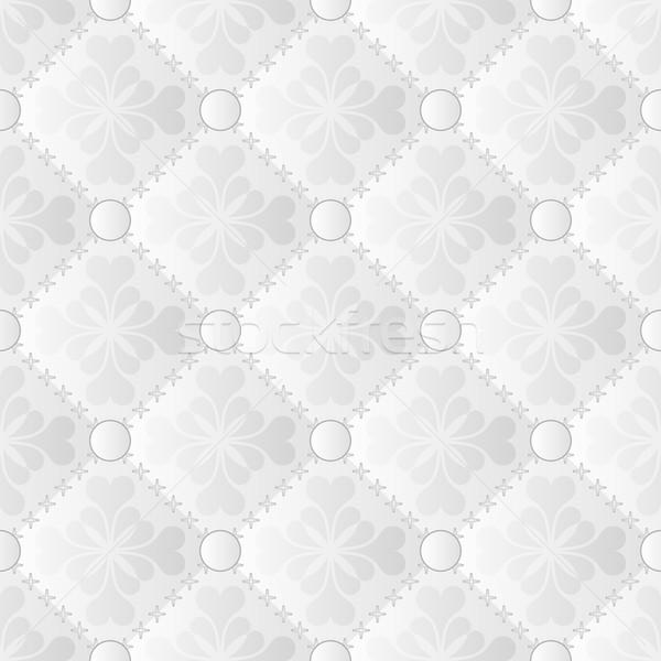 Fehér minta szürke végtelenített dísz textúra Stock fotó © mtmmarek