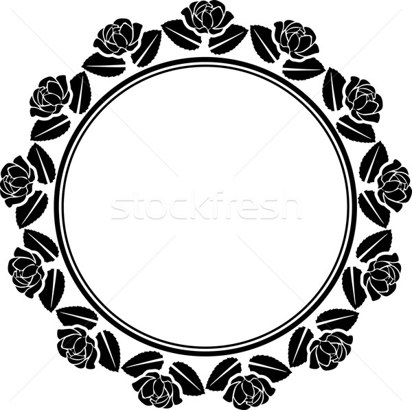 границе силуэта роз цветы закрывается аннотация Сток-фото © mtmmarek