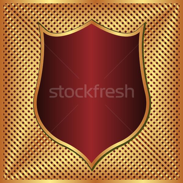 Arany gesztenyebarna absztrakt terv piros minta Stock fotó © mtmmarek