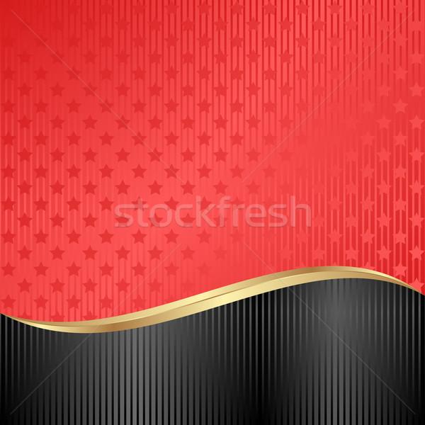 Stock foto: Rot · schwarz · Sternen · abstrakten · Design · Hintergrund
