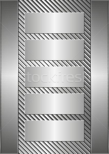 Banery metaliczny pięć tekstury tablicy przemysłowych Zdjęcia stock © mtmmarek