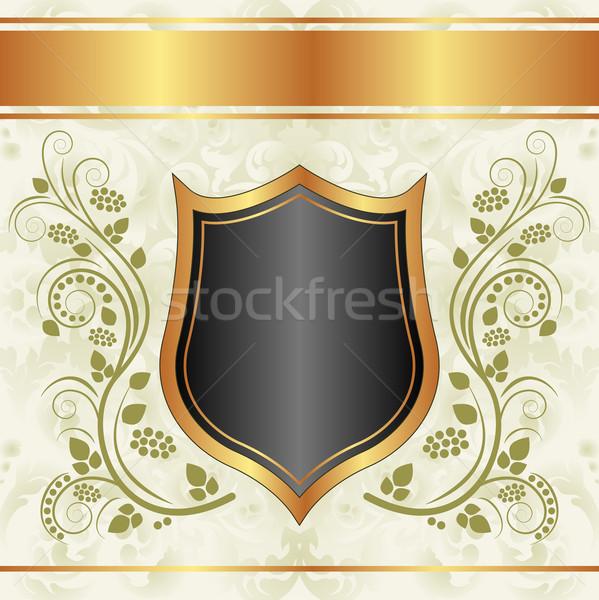 黒 クリーミー 金 フローラル 抽象的な ストックフォト © mtmmarek