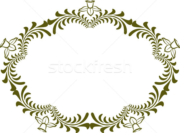 декоративный границе цветочный дизайна силуэта шаблон Сток-фото © mtmmarek