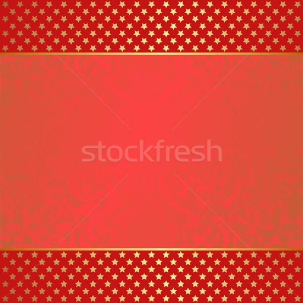 красный Vintage украшения звезды аннотация Сток-фото © mtmmarek