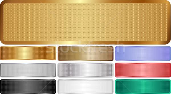 metallic banners Stock photo © mtmmarek