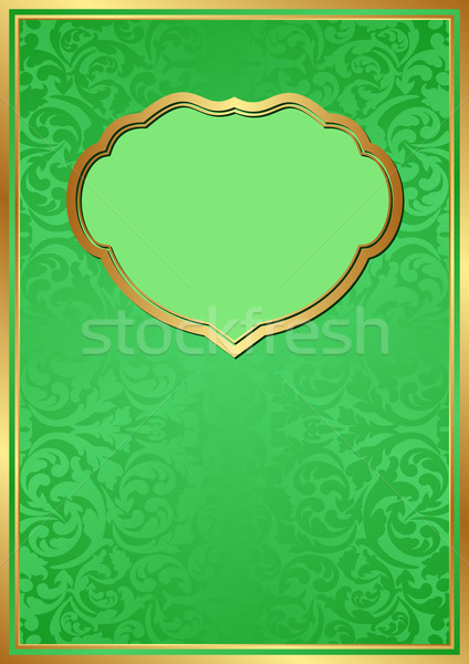 Zöld dekoratív keret absztrakt háttér minta Stock fotó © mtmmarek