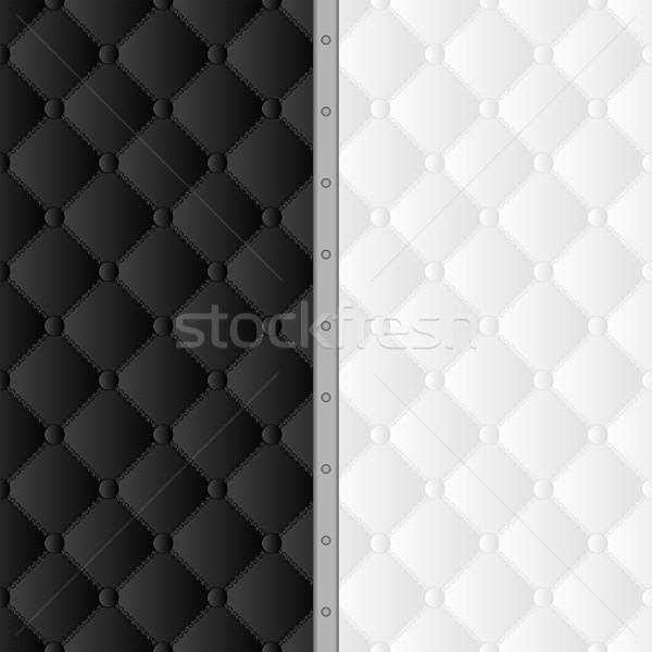 черно белые шаблон текстуры дизайна черный современных Сток-фото © mtmmarek