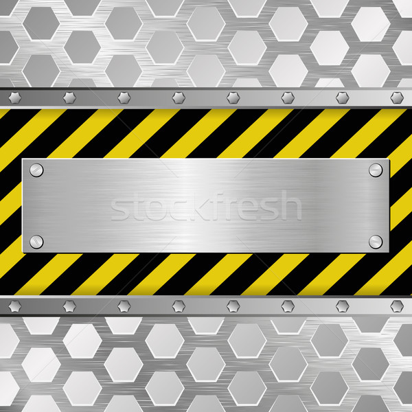 Fogkő fémes figyelmeztetés építkezés háttér ipari Stock fotó © mtmmarek