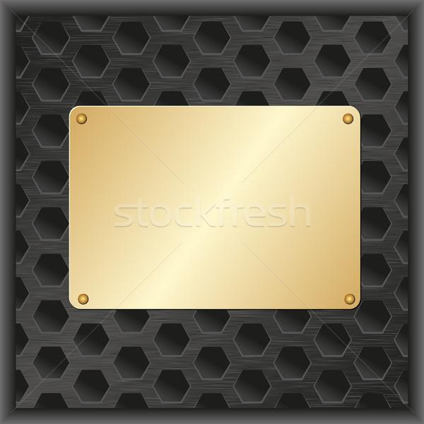 Arany fogkő fekete textúra terv technológia Stock fotó © mtmmarek