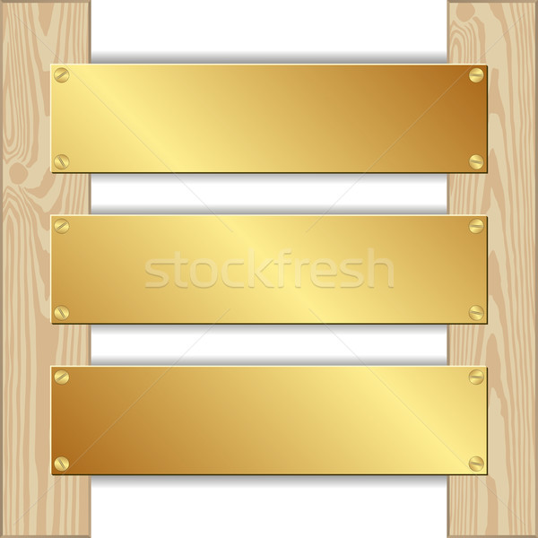 three plaques Stock photo © mtmmarek
