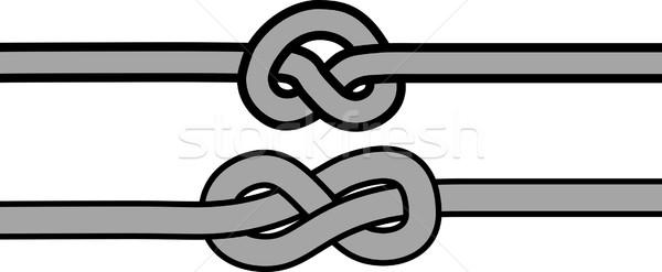 Csomó szimbólum vektor kötél szimbólumok terv Stock fotó © mtmmarek