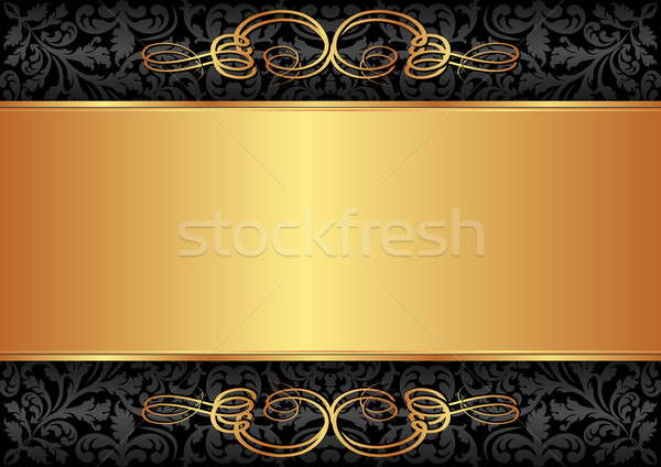 black and gold background Stock photo © mtmmarek