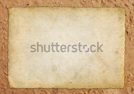 Irregolare muro vecchio carta sfondo pietra Foto d'archivio © mtmmarek