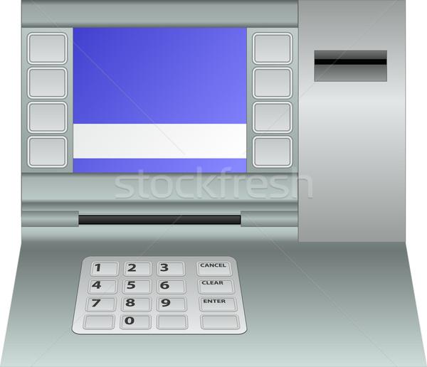 Atm płyta odizolowany komputera klawiatury bezpieczeństwa Zdjęcia stock © mtmmarek