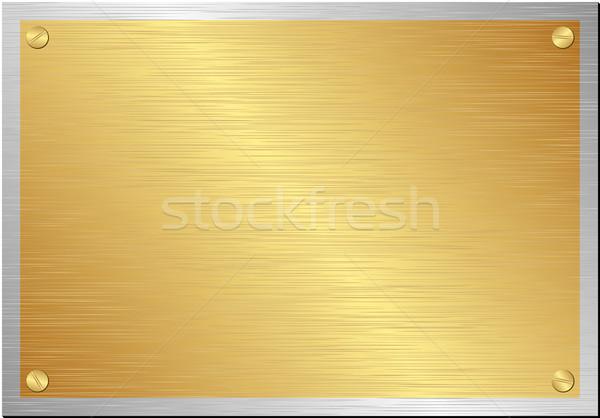 Fogkő arany ezüst textúra keret űr Stock fotó © mtmmarek