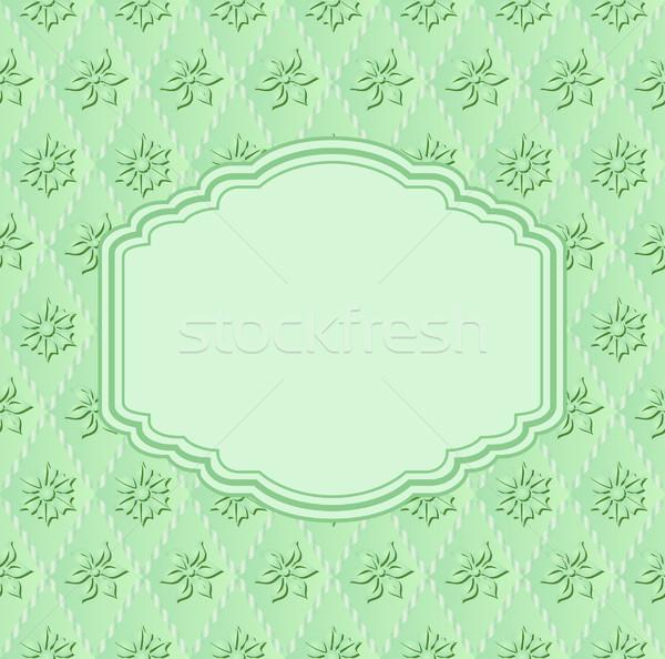 Zöld virágok virág fény háttér űr Stock fotó © mtmmarek