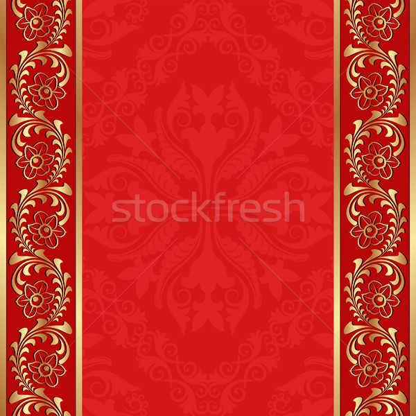 Rood gouden ornamenten abstract achtergrond ruimte Stockfoto © mtmmarek