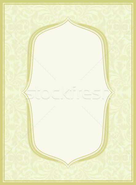 Fény citromsárga virágmintás díszek textúra terv Stock fotó © mtmmarek