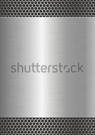 metallic background with steel texture Stock photo © mtmmarek