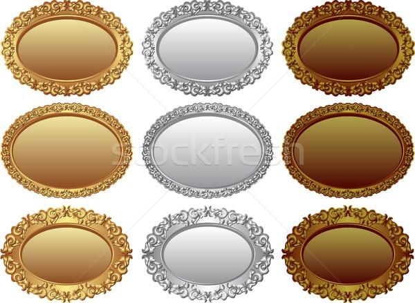 Jelvények gyűjtemény arany ezüst bronz terv Stock fotó © mtmmarek